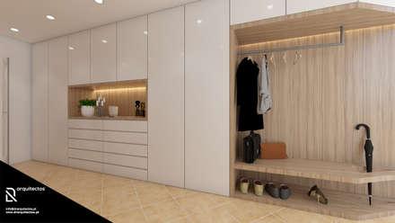 Pasillos y vestíbulos de estilo  por DR Arquitectos