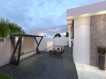 مسبح حديقة تنفيذ Miranda Paez Arquitectura Interior