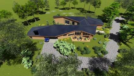 層疊式原木屋 by Nomade Arquitectura y Construcción spa