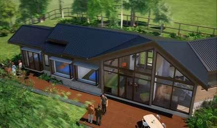 กระท่อมไม้ by Nomade Arquitectura y Construcción spa