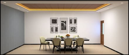 Interior design project : minimalistic Dining room by VIP DESIGNS