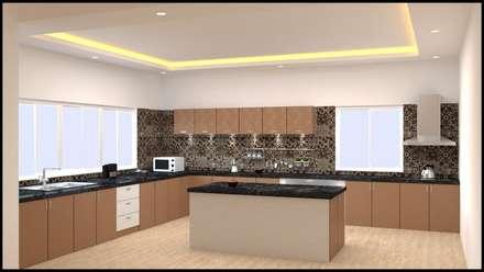 Interior design project : minimalistic Kitchen by VIP DESIGNS