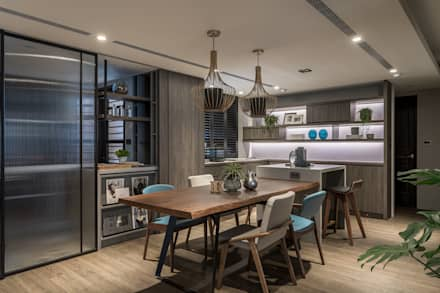 modern Dining room by 合觀設計