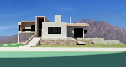 Single family home by Arquitecto Manuel Daniel Vilte