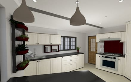 New Kitchen Addition:  Built-in kitchens by A4AC Architects
