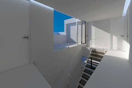 ESCALERA CASA HEN: Escaleras de estilo  de VALEROYOCHANDO arquitectura