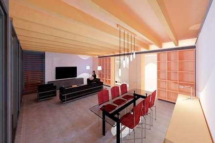 COMEDOR CASA IBARRA: Comedores de estilo minimalista de VALEROYOCHANDO arquitectura