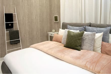 The Grey Bedroom: eclectic Bedroom by Aorta the heart of art