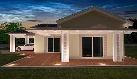 Villa Prefabbricata in Legno: Casa unifamiliare in stile  di Avantgarde Construct Luxury Srl