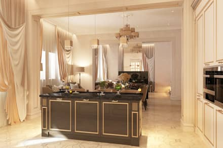 МИРАЖ И АТЛАС: Кухонные блоки в . Автор – Студия Лашина Сергея 'VPROEKTE'