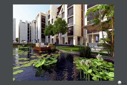 Exterior 3D Still Rendering - Residential Projects:  Patios & Decks by MI Studio LLP