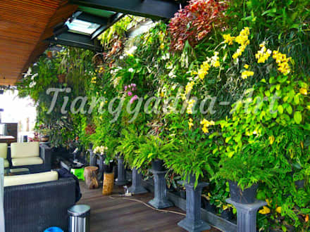 Laghetto da giardino in stile  di Tukang Taman Surabaya - Tianggadha-art