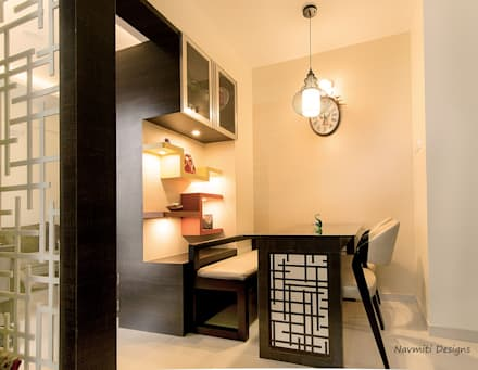Dining Nook: modern Dining room by Navmiti Designs