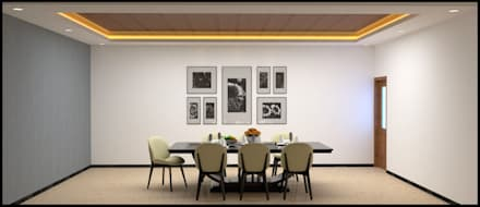 INTERIOR DESIGN PROJECT: minimalistic Dining room by FORM SPACE ARCHITECTURAL STUDIO