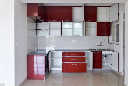 modular kitchen:  Kitchen units by mayu interiors