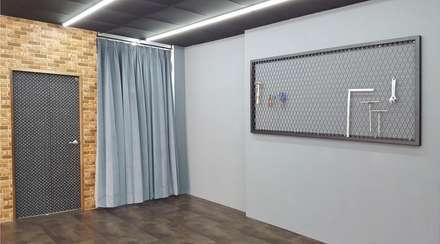 工業風洗車場。內壢:  商業空間 by 藝舍室內裝修設計工程有限公司