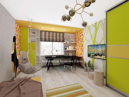 Teen bedroom by Архитектурное Бюро 'Капитель'