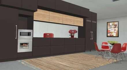 Apartamento com 2 quartos: Armários de cozinha  por Filomena Sobreiro - Decorações