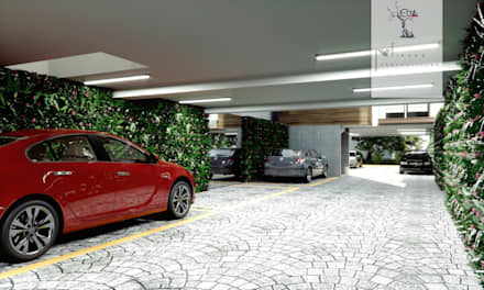 Double Garage by MIRARQPERSPECTIVAS