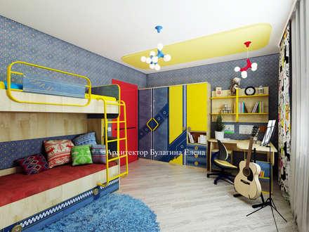 غرفة نوم أولاد تنفيذ Архитектурное Бюро 'Капитель'