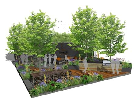 Trade Stand Concept for Chelsea Flower Show 2018:  Zen garden by Aralia