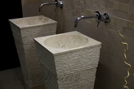 Freestanding Stone sinks - bathroom standing washbasins: asian Bathroom by Lux4home™ Indonesia