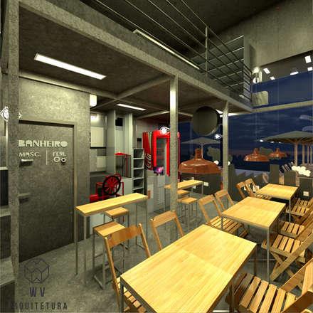 Restaurantes de estilo  por WV ARQUITETURA