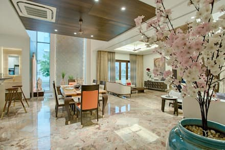 Rajkot Bunglow : asian Dining room by YP design Studio
