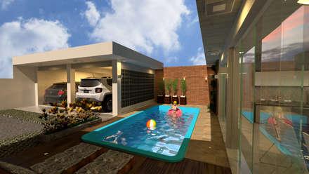 Infinity pool by MVK Arquitetura, Engenharia e Construções