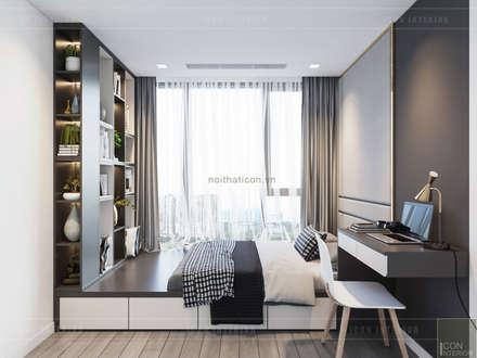 Sang trọng đẳng cấp với nội thất mạ Titan trong căn hộ Vinhomes Golden River:  Phòng trẻ em by ICON INTERIOR