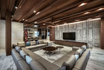 LUXURIOUS HOME: modern Living room by inDfinity Design (M) SDN BHD