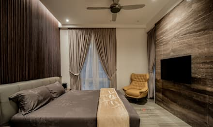 LUXURIOUS HOME: modern Bedroom by inDfinity Design (M) SDN BHD