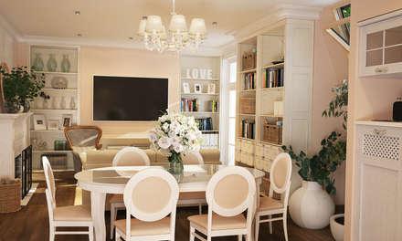 Интерьер гостиной прованс: Гостиная в . Автор – студия Design3F