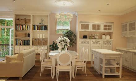 Дизайн гостиной: Гостиная в . Автор – студия Design3F