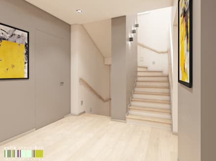 Escaleras de estilo  de Мастерская интерьера Юлии Шевелевой