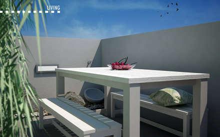 Attic terrace in Milan: Tetto in stile  di CF Architect