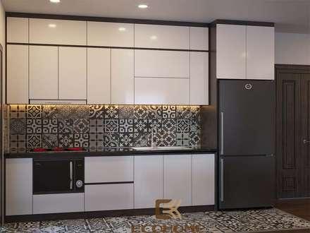 Phòng bếp:  Nhà bếp by Công Ty TNHH Xây Dựng & Nội Thất ECO Việt Nam