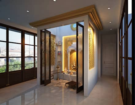 TEMPLE ROOM : classic Houses by JM: The Design Consultant