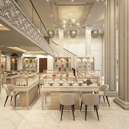 Oficinas y Tiendas de estilo  por JM: The Design Consultant