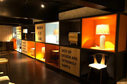 CHAIRS AND ARTIFACTS DISPLAY AREA:  Commercial Spaces by JM: The Design Consultant