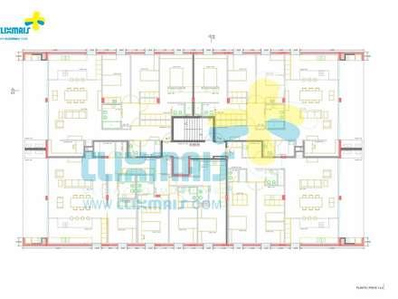 Planta dos apartamentos: Condomínios  por Clix Mais