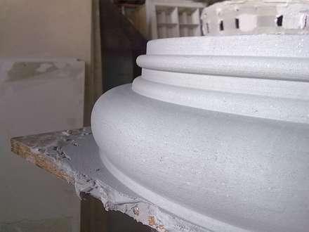 Column base:  Terrace house by Buildart - Fibreglass Specialists