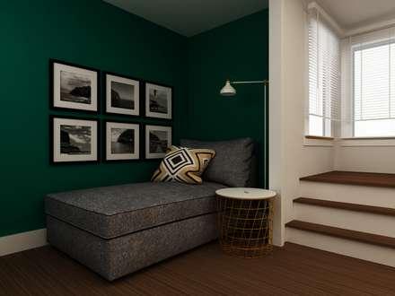 Sala de Leitura: Salas de estar ecléticas por Paulo Faria Design