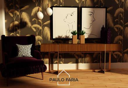 Hall de corredor: Corredores e halls de entrada  por Paulo Faria Design