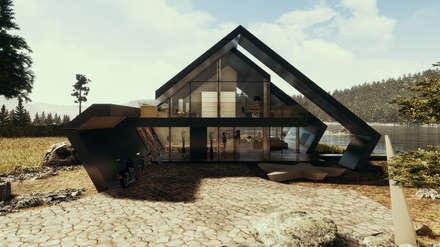 Moderne Villa mit Satteldach:  Villa von Avantecture GmbH