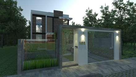 Casas unifamiliares de estilo  por MVK Arquitetura, Engenharia e Construções