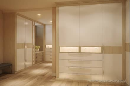Большая гардеробная комната: Гардеробные в . Автор – студия Design3F