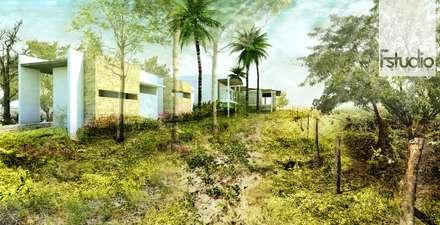 Laghetto da giardino in stile  di Fstudio Arquitectura