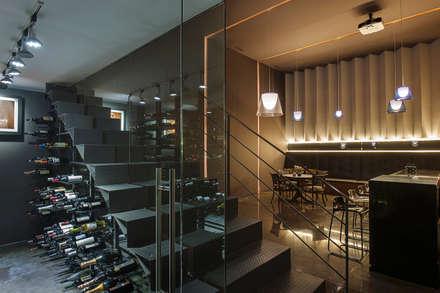 modern Wine cellar by Paola Calzada Arquitectos