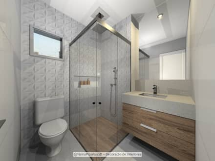 حمام تنفيذ Nainá Julio  - Designer de Interiores